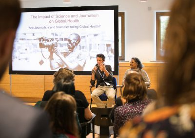 Scientists and journalists had an open and lively debate on their contributions to the global health landscape